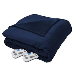 Serta Heated Electric  Silky Plush Blanket with Programmable