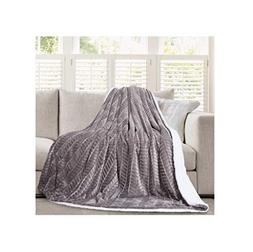 Micromink Flannel Throw Blanket, Reverses to Sherpa, Fuzzy M